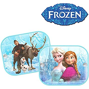 Pack of 2 Genuine Disney Frozen Car Window Sun Shade Visor Mesh Kids 01