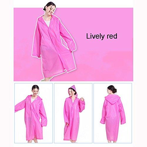 Yuany Männer und Frauen Regenmäntel, Regenmantel Erwachsene koreanische Mode Regenmantel Outdoor Wandern Bergsteigen Regenmantel Poncho Tragbare transparente Regenmantel Poncho (Farbe: D)