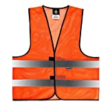 Warnweste Mesh Größe XXL (Meshgewebe) Orange Sommerwarnweste