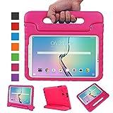 NEWSTYLE Samsung Galaxy Tab E 9.6 EVA Stand Etui - Enfants Housse Antichoc Protecteur Kids Coque Anti-Chocs Convertible Design avec Poignée pour Samsung Galaxy Tab E / Tab E Nook 9.6 Pouces (Magenta)