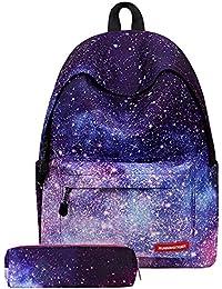 Mochilas Escolares Juveniles Galaxia Impresión Moderna Mochila Escolar Infantiles Lona Bolsa Casual Backpack Laptop Mochila de