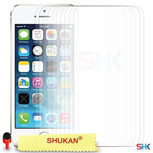 """Apple iPhone 6 / 6S Plus (5.5"""" Inch) Pack 1, 2, 3, 5, 10 Protecteur d'écran & Chiffon SVL0 PAR SHUKAN®, (PACK 10) Pack De 10"""