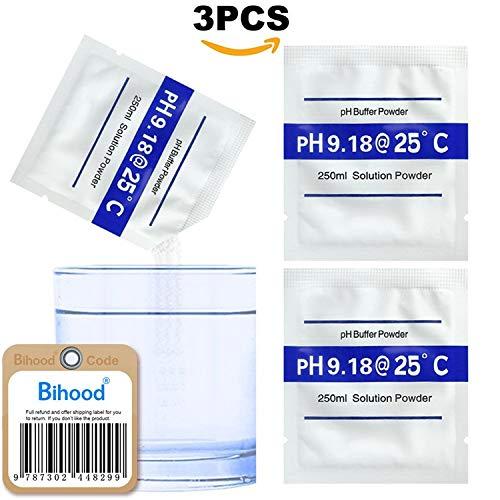 Bihood pH Pufferlösung Puffer PH Puffer pH Meter pH Test Boden pH Meter pH Puffer pH Wert pH Wert pH Controller pH Meter Pufferlösungen Kalibrationsmessgeräte Messen pH Wert 9,18