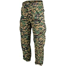 Helikon USMC Pantalones Policotton Twill digital Woodland tamaño XL Largo