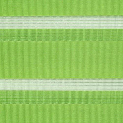 Lichtblick Duo-Rollo Klemmfix, 60 cm x 150 cm (B x L) in Grün, ohne Bohren, Doppelrollo für Fenster & Türen, moderner Sichtschutz, innovative Kombination aus Rollo & Jalousie - 7