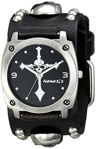 Nemesis Men's 927MSK-K Skull Cross Series Analog Display Japanese Quartz Black Watch