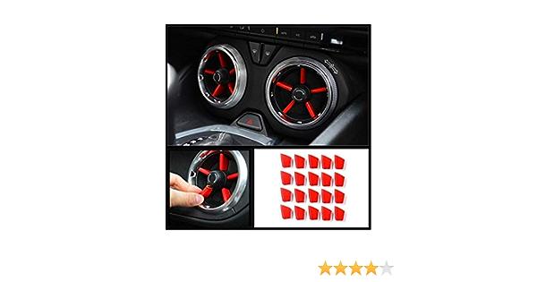 Rjjx 20pcs Neues Auto Rot Innenklimaanlage Vent Outlet Abdeckung Trim Dekoration Fit For Chevrolet Camaro 2016 2017 2018 Küche Haushalt