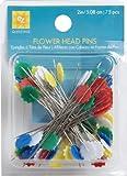 EZ Quilting 75-Piece Flower Head Pins, Multi-Color