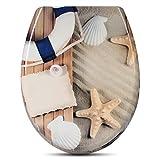 WOLTU #314 WC Sitz Toilettensitz, mit Abesenkautomatik, Toilettendeckel aus Duroplast, Deco Design, NEU&OVP