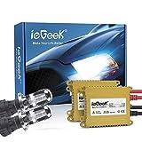 ieGeek 2x H4 Xénon Ampoule 110W 9V-16V Kit de Conversion Blanc Lumière