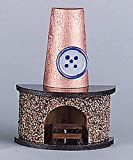 Kahlert Licht 40664 - Minipuppenzubehör - Kamin mit halbrunder Form