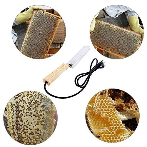SODIAL EU Stecker elektrische Honig Messer Biene Imkerei Ausruestung Messer von Schneiden Heizgriff...