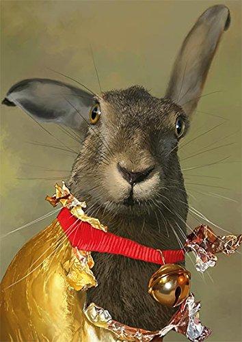 Postkarte A6 • 64106 ''Goldhase'' von Inkognito • Künstler: Jamiri • Fantastik • Ostern