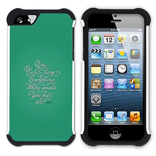 Graphic4You Hello? Englisch Zitat Nachricht Hart + Weiche Kratzfeste Hülle Case Schale Tasche Schutzhülle für Apple iPhone SE / 5 / 5S Design #8