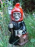 Gartenzwerg Sensenmann Reaper aus bruchfestem PVC Zwerg Made in Germany Figur