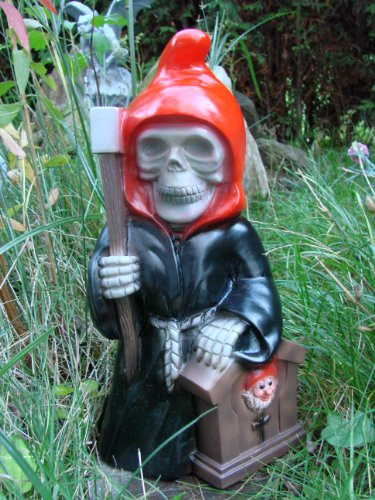 Gartenzwerg Sensenmann Reaper aus bruchfestem PVC Zwerg Made in Germany Figur - 2