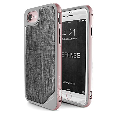 X-Doria 449366 Defense Lux Coque de protection en aluminium Bleu/doré Pour Apple iPhone 7  Rose Or