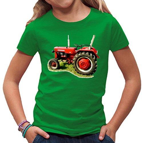 Traktoren Kinder T-Shirt - Traktor Oldtimer McCormick by Im-Shirt - Kelly Green Kinder 12-14 Jahre