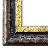 Online Galerie Bingold Bilderrahmen Schwarz Gold 50x140-50 x 140 cm - Antik, Barock - Alle Größen - Handgefertigt in Deutschland - LR - Trento 5,4