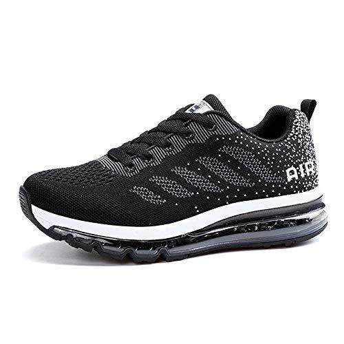 Monrinda Scarpe da Corsa Cuscino d'Aria Donna Uomo Fitness Scarpe da Ginnastica Corsa Running Sneakers Casual all'Aperto