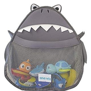 Ana Wiz™ Animal Bath Tidy Storage for Toys – Various Designs (Grey Shark)