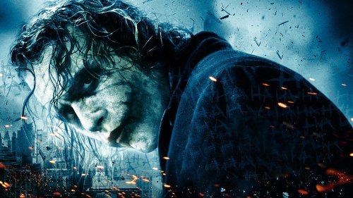 Batman The Joker Heath Ledger Comic Movie Druck von Canvas35101,6x 76,2cm, Leinwand, Mehrfarbig, 127x 50x 4cm