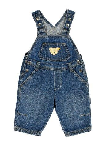 Steiff Unisex - Baby Latzhose 0006832 Blau (Blue Denim ) 74 (Herstellergröße: 74)