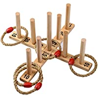 Jaques of London - Quoits Make and Excellent Garden Toys and Games Set - New Nine Pin Quoits Garden Game