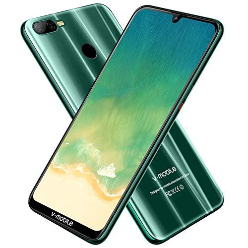 Smartphone Offerta del Giorno,V-mobileM9 Pro 6.3' 4GB+64GB Android 8.1 4800mAh Schermo Notch(19: 9), Triplo Slot 2 Mircro SIMs+1 MicroSD, Octa Core Cellulari Offerte Fotocamera 8MP (green)