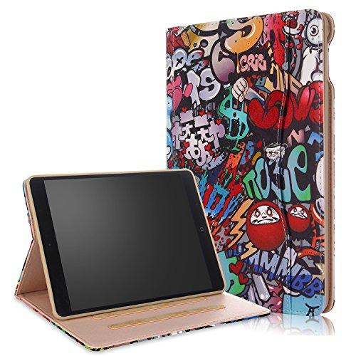 018/2017 iPad Air/Air2 Hülle Multifunktionale TPU Soft Case, Mehrere Sichtwinkel mit Hand-Halter [Auto Schlaf/Wach] Schutzhülle für Apple iPad 9.7 2017/2018/Air/Air2 Z-Graffiti ()
