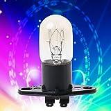 Hergon Mikrowelle Glühbirne,Global Light Lampenkolben Basis Design 250 V 2A Ersatz Universal für zu Hause