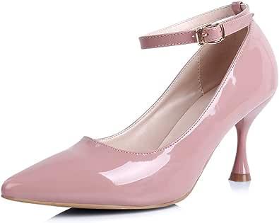 ROBASIOM - Scarpe da donna, comode con cinturino alla caviglia