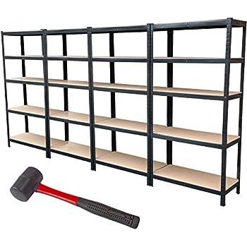 Set 3 Heavy Duty 5 Tier Shelf Shelving Units Garage