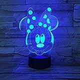 3d nachtlicht Cartoon Mickey Mouse 3D Lampe 7 Farben Ändern Nachtlicht 5 V USB Tischlampe Nachtstimmung Licht für Kinder Lava Lampe Drop Shipping