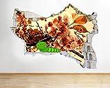 tekkdesigns Caterpillar Blossom Baum Living zerstörten Wand Aufkleber 3D Kunst Aufkleber Vinyl Raum