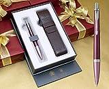 Parker Urban Premium Kugelschreiber, Dunkelviolett mit Chromverzierungen, in luxuriöser Geschenkbox, inklusive Stiftetui