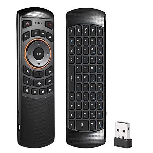 Foto de Docooler Teclado Inalámbrico con Air Mouse Control Remoto de Mano Giroscopio de 6 Gxes para Windows / Mac OS / Linux / Android TV Mini PC TV Box