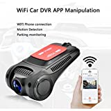 Wifi In Car Mini Dash Cam with Night Vision Full HD 1080P170 Degree