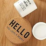 NANHAI Rund Kork Glasuntersetzer Untersetzer Korkuntersetzer Kaffee Trinken Tischset für Bar, Küche, Wohnzimmer, Schwarz