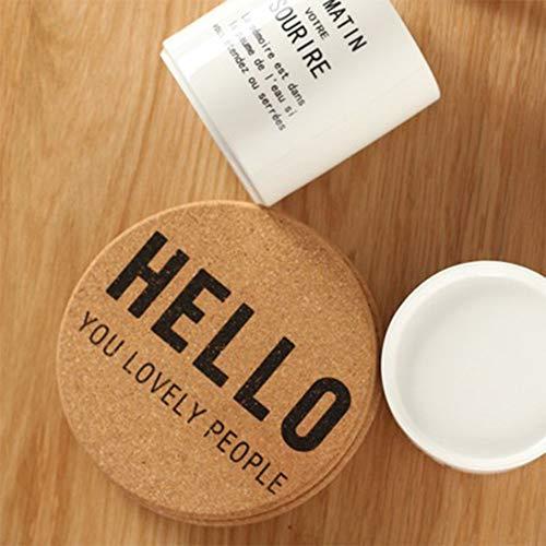 NANHAI Rund Kork Glasuntersetzer Untersetzer Korkuntersetzer Kaffee Trinken Tischset für Bar,...