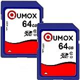 QUMOX 2x 64Go 40Mo/s SDXC 64 Go Class 10 carte Mémoire