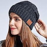 Boys' Men's Running Caps ,Bluetooth Music Headphone Cap, Fleece Warm Knit Cap,Bluetooth Hat Women Mens