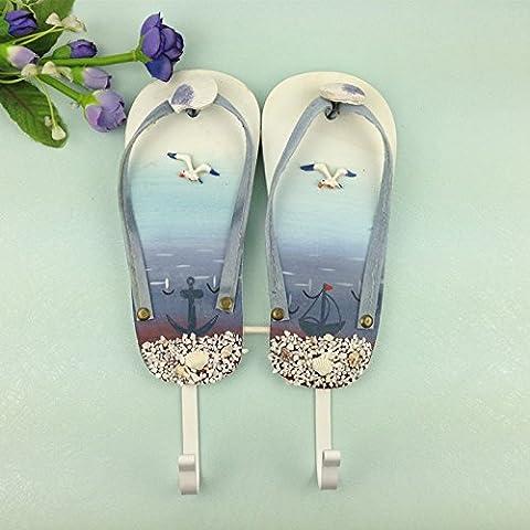 Fare creativo vecchio rivestimento di resina di ganci per il montaggio a parete di accoppiamento femmina parete del manicotto 3 confezione donne negozio decorazione stendibiancheria , 1 scarpe doppia