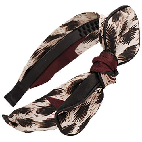 Dorical Haarband Yoga Headband Hairband Damen Stoff Haarreif mit Schleife-Vintage-Wunderschön Stirnband,Haarschmuck Haarreif mit Schleife-Vintage-Wunderschön Stirnband (One Size, Z015-Beige)