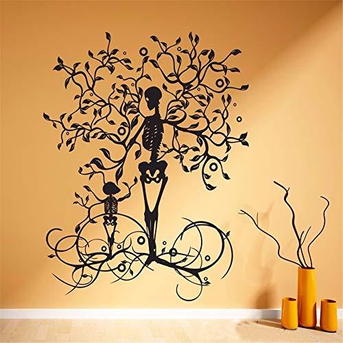 Wandtattoo Schlafzimmer Halloween-Dekoration-Skelett-Baum für Kinderzimmer-Jungen-Schlafzimmer