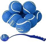 BINGPET Pelotas de tenis para perros, 6,35 cm, 8 unidades, juguetes para perros con lanzador