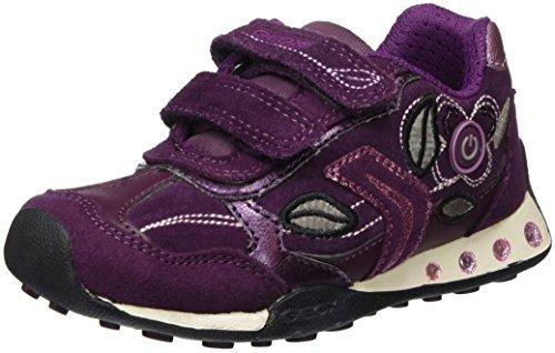 Geox Mädchen Jr New Jocker Girl C Low-Top Violett (Prunec8017)