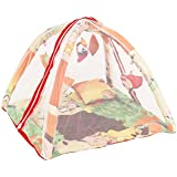 BabyShower Kids Bedding Set With Mosquito Net, Hanging Toys & Pillow For Baby - Cream_BDNT107