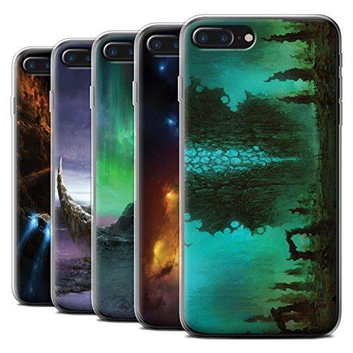 Offiziell Chris Cold Hülle / Gel TPU Case für Apple iPhone 7 Plus / Planet/Mond Muster / Fremden Welt Kosmos Kollektion Pack 12pcs