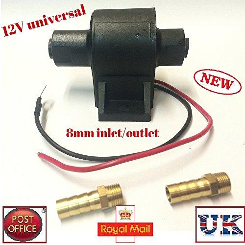 Electric Universal Fuel Pump 12V Car Diesel Petrol Bio Facet Posi Flow Style MarkUK® P25 Test